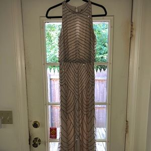 Bhldn Adrianna Papell Madigan Dress - Nude